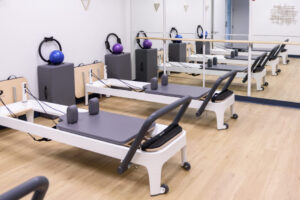 Pilates reformer machines are available for anyone signed up for Pilates classes.