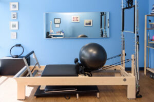 Anchor Wellness Center Cincinnati has a private pilates reformer machine room for one on one sessions.